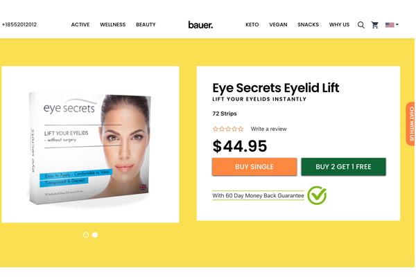Bauer nutrition eye secrets website