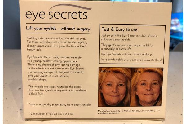 eye secrets eye strips