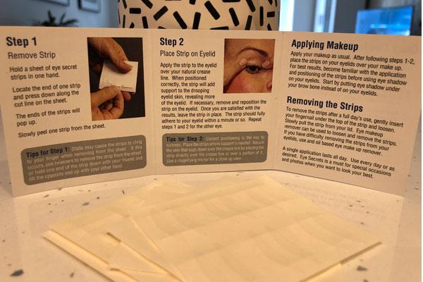 how to use eyesecrets upper eyelid lift strips